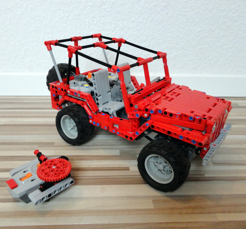 Modular All Terrain Platform Map Jeep Willys Lego Technic And