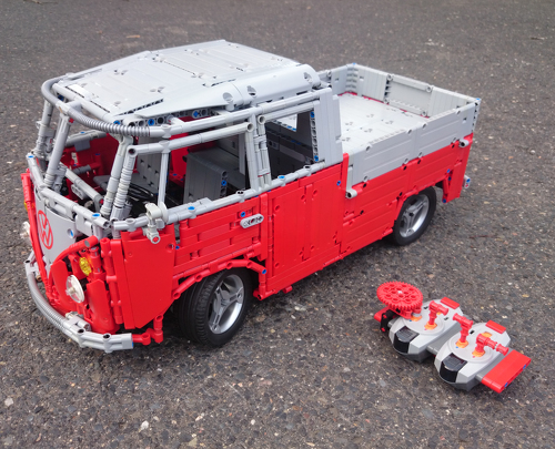 moc mod vw t1 crew cab partly by sheepo lego technic. Black Bedroom Furniture Sets. Home Design Ideas